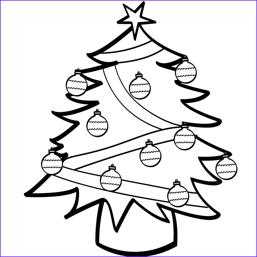 Coloring Pages Christmas Tree Beautiful Photos Free Printable Christmas Tree Coloring Pages for Kids