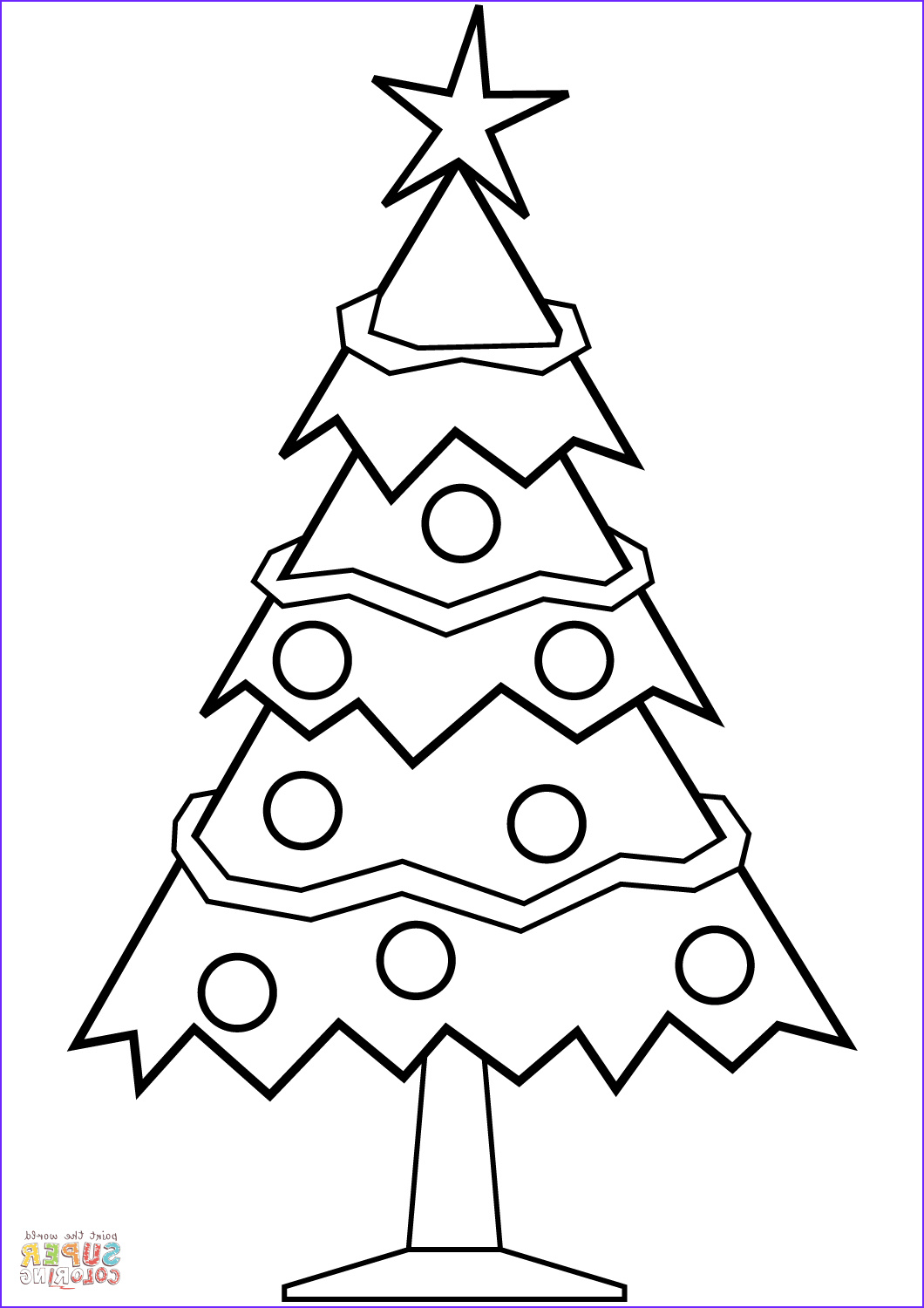 Coloring Pages Christmas Tree Elegant Photos Simple Christmas Tree Coloring Page