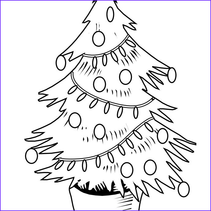 Coloring Pages Christmas Tree Unique Photography Free Christmas Tree Coloring Pages for the Kids