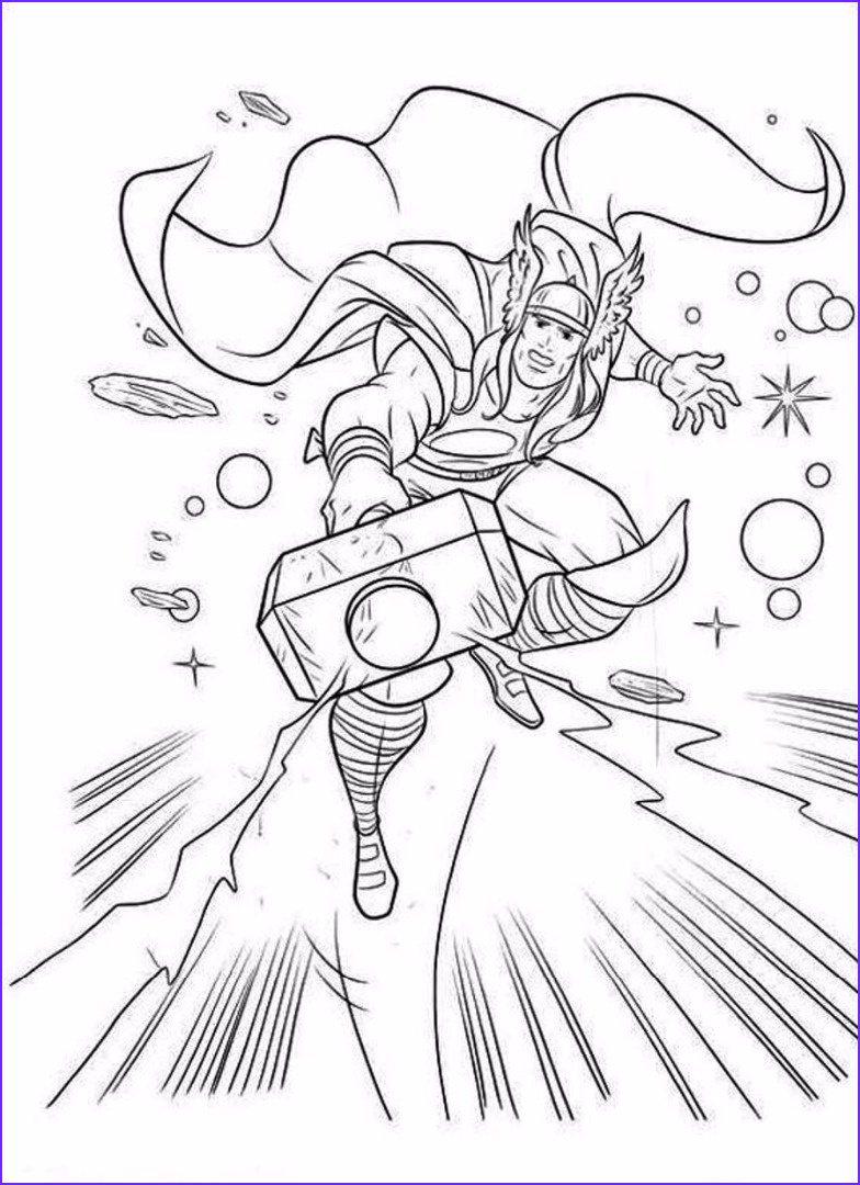 Coloring Pages Coloring Book New Images Thor Coloring Pages