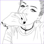 Coloring Pages Com Cool Gallery Tumblr Girl Coloring Pages Cartoon