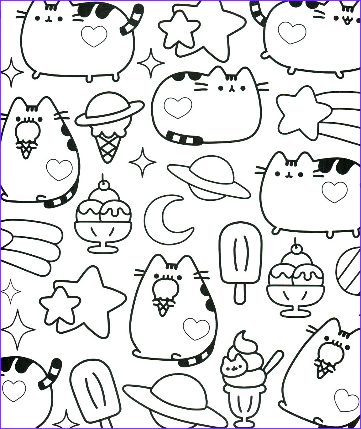 pusheen coloring pages book