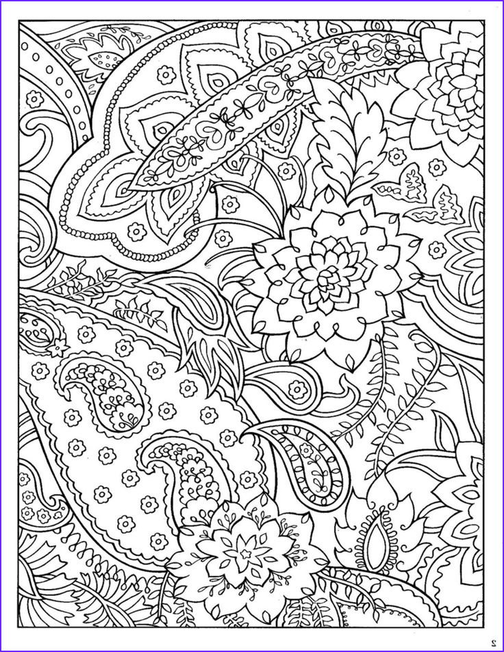 Coloring Pages Designs Awesome Photos Dover Paisley Designs Coloring Book