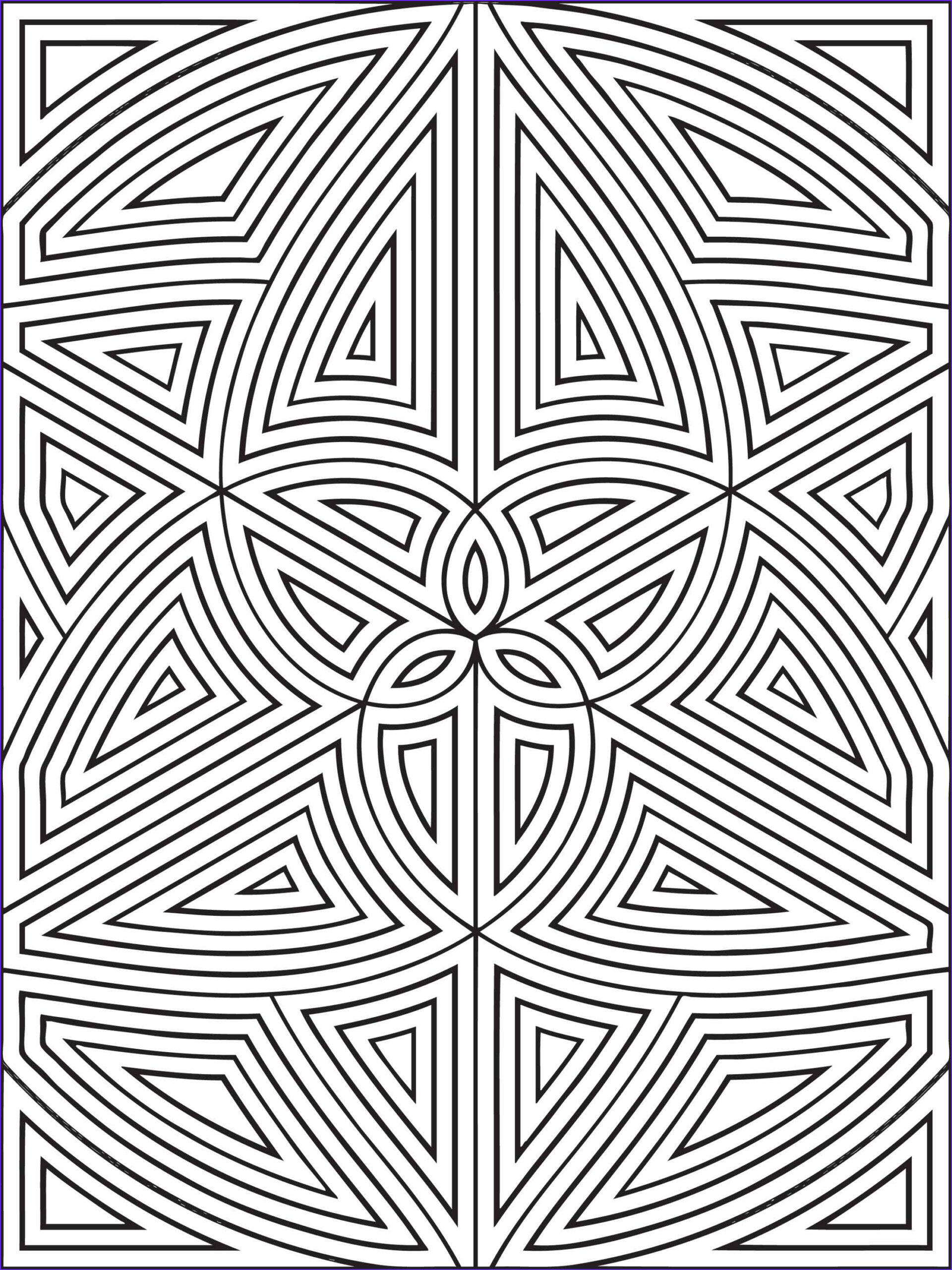 Coloring Pages Designs Beautiful Photos Free Printable Geometric Coloring Pages for Kids