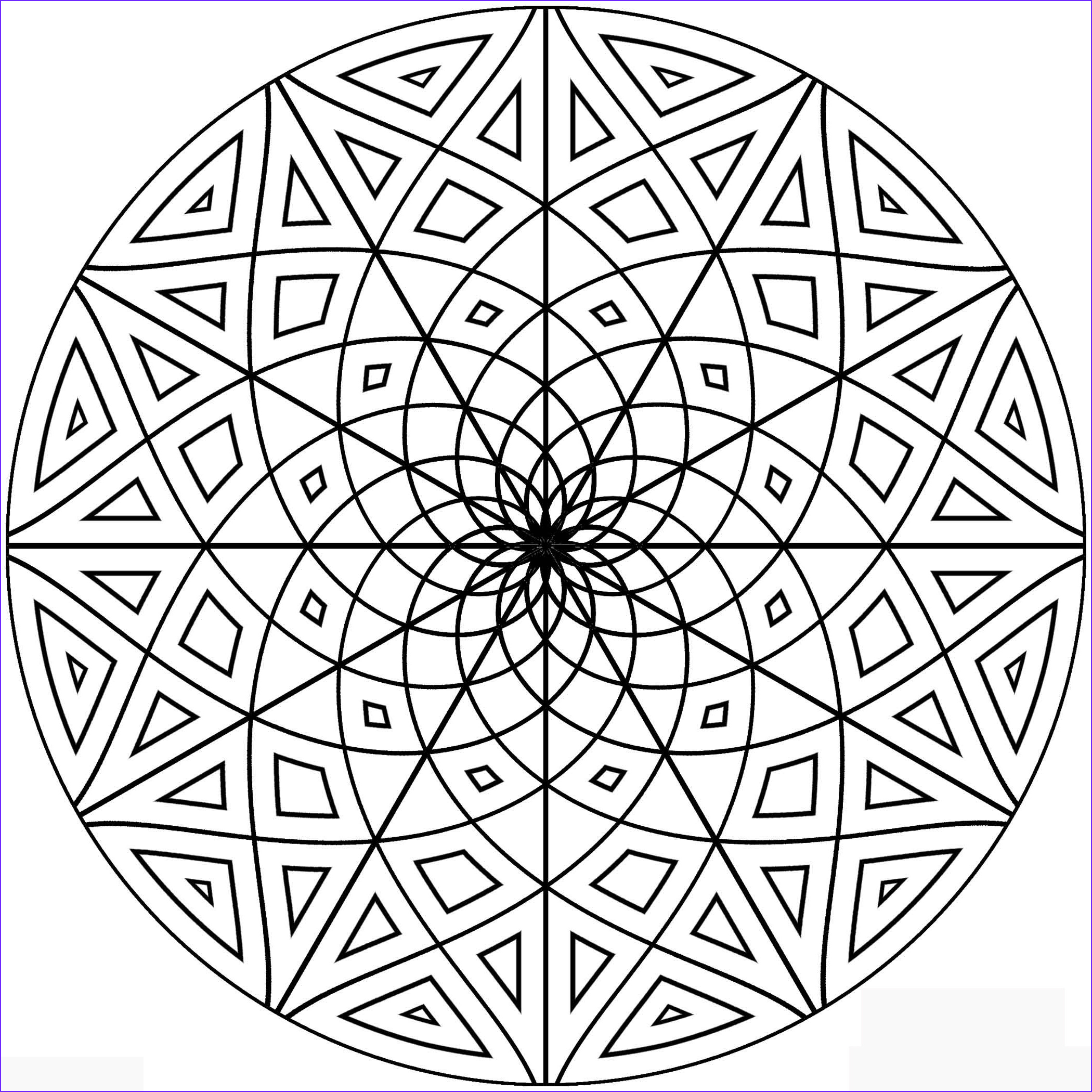 Coloring Pages Designs Cool Photos Free Printable Geometric Coloring Pages for Adults