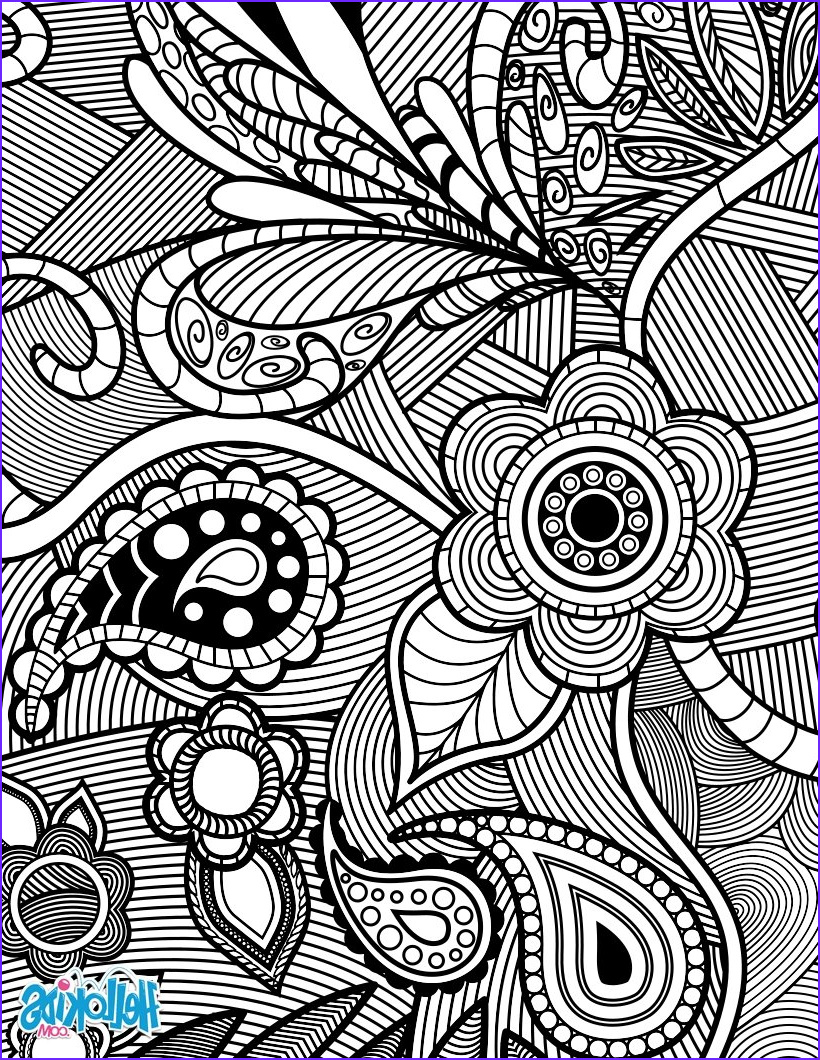 Coloring Pages Designs Inspirational Photos Flowers & Paisley Design Coloring Pages Hellokids