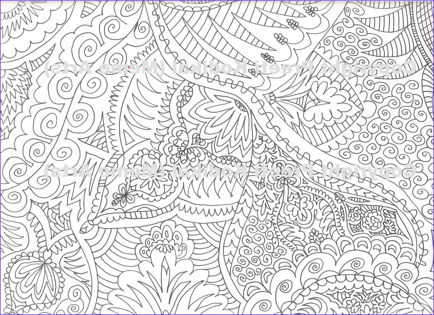 Coloring Pages Designs Inspirational Photos Pen Illustration Printable Coloring Page Zentangle Inspired