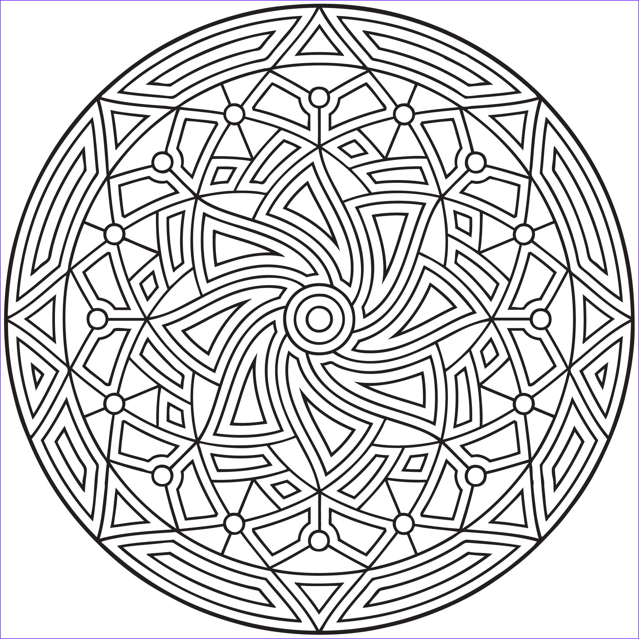 Coloring Pages Designs Luxury Collection Free Printable Geometric Coloring Pages for Kids