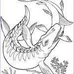 Coloring Pages Dinosaurs Beautiful Image Mosasaurus Dinosaur Coloring Page
