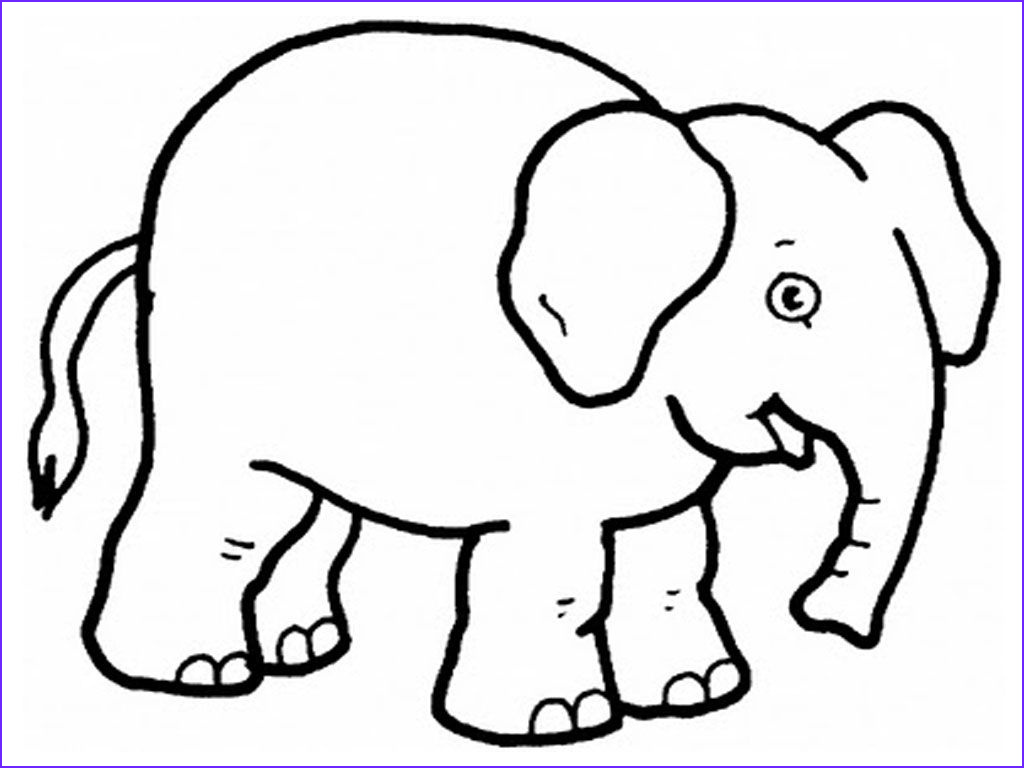 Coloring Pages Elephants Awesome Photos Free Printable Elephant Coloring Pages for Kids