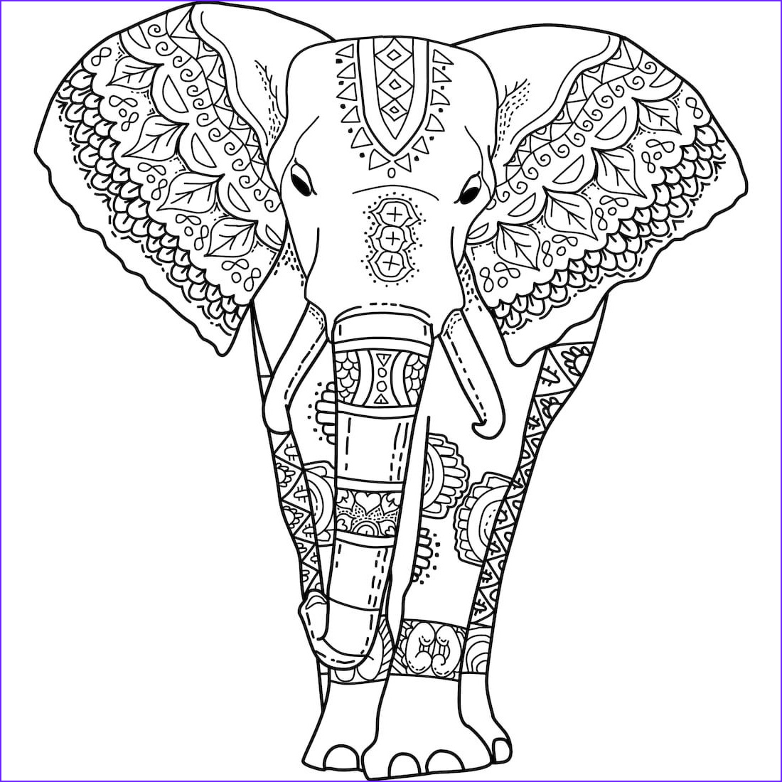 Coloring Pages Elephants Awesome Photos Pin by Monday Mandala On Printable Mandalas to Color