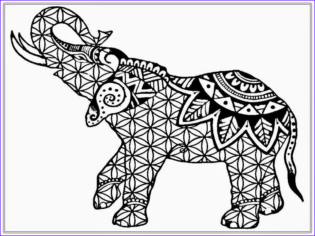 Coloring Pages Elephants Awesome Stock African Elephant Coloring Pages Adult