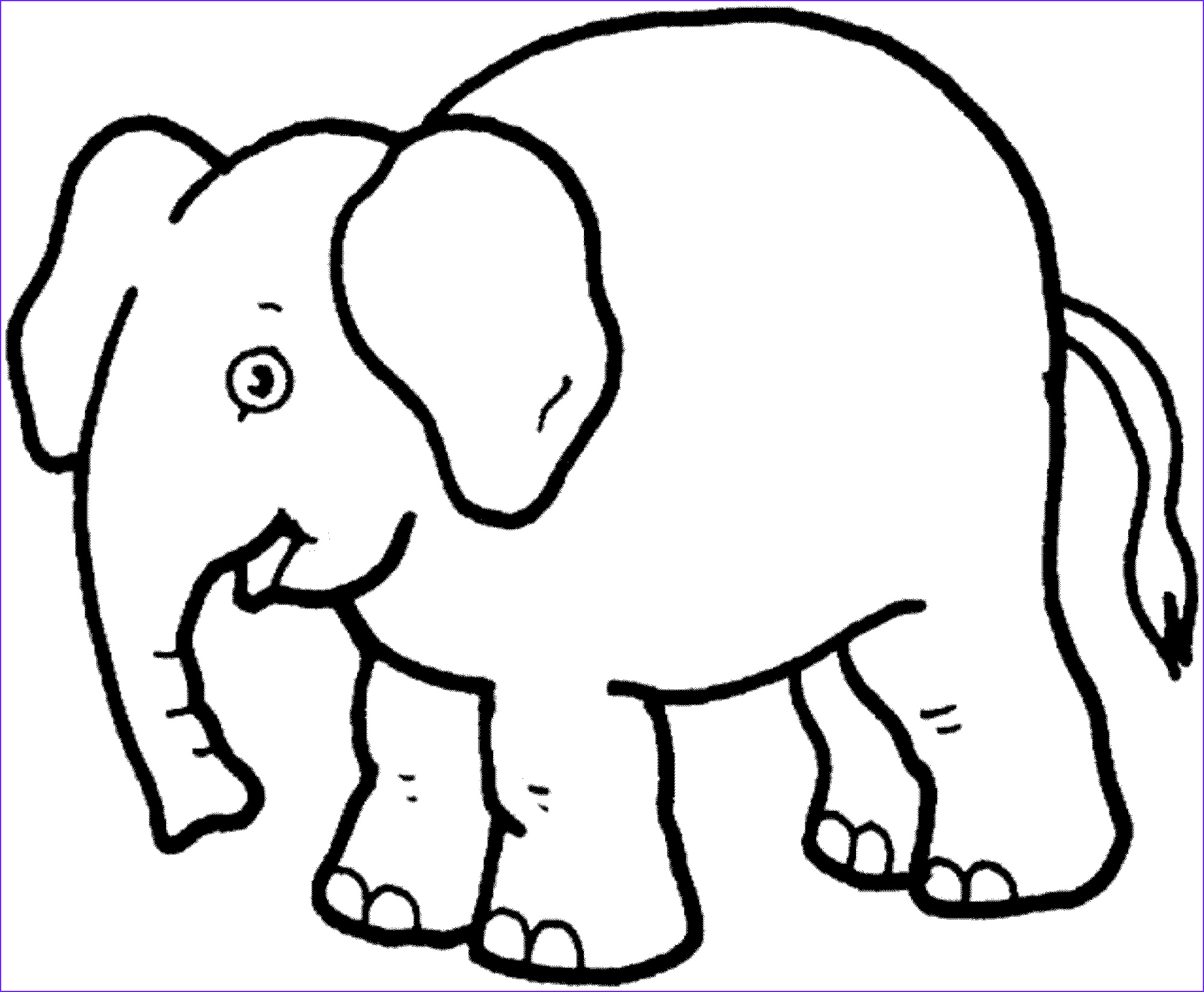 teaching kids elephant coloring pages