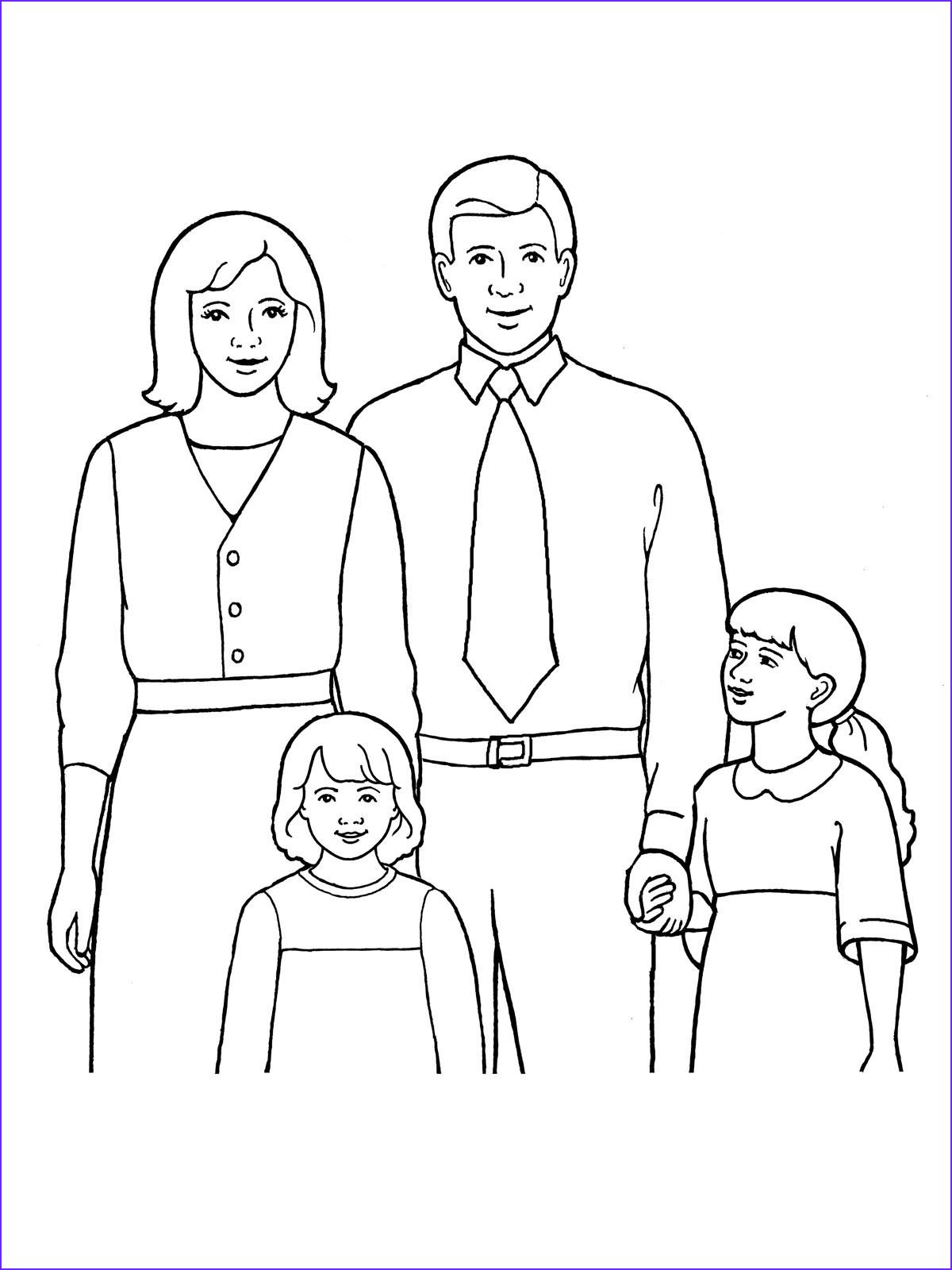 Coloring Pages Family Awesome Gallery Family Of Four
