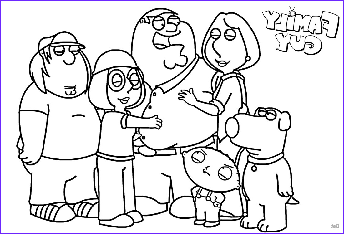 family guy coloring pages family members