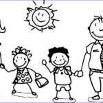 Coloring Pages Family Beautiful Photography Happy Family And Children Coloring Page Grade 1