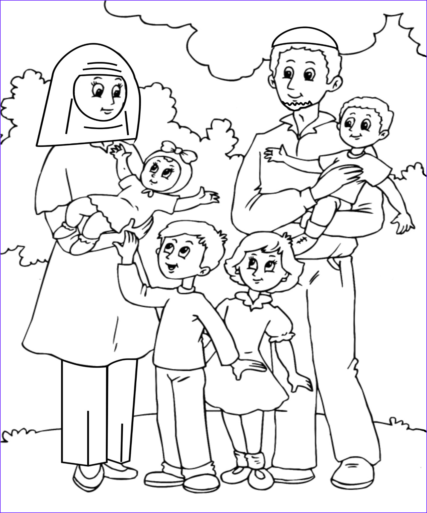 me and my family drawing