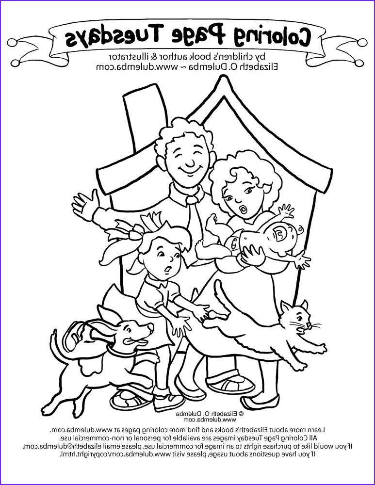 coloring pages of family members