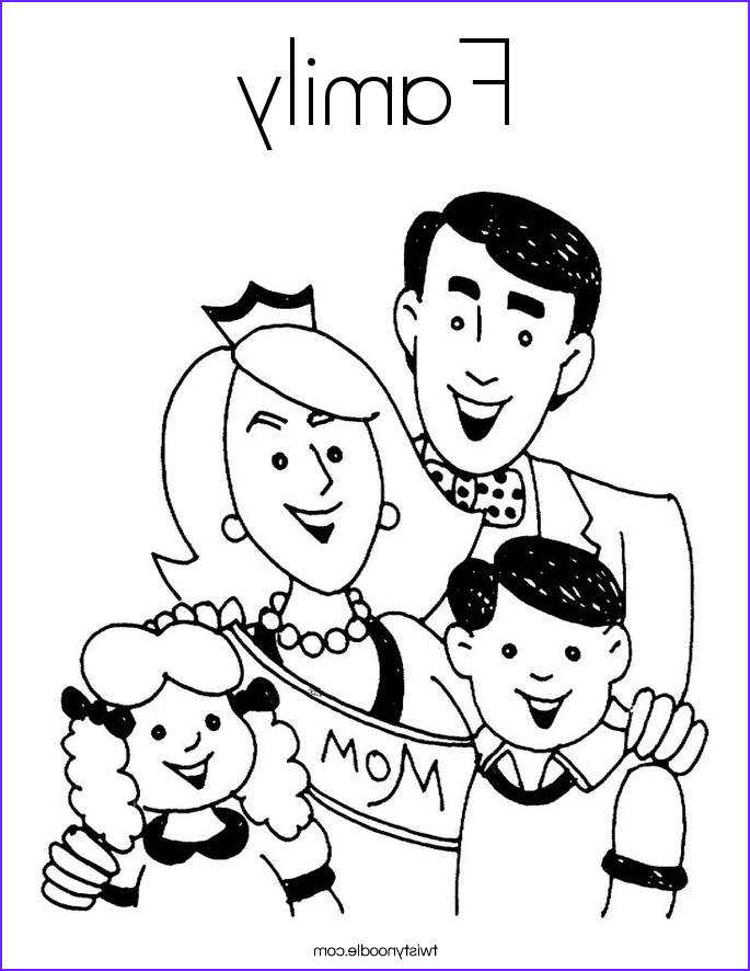 family 3 coloring page