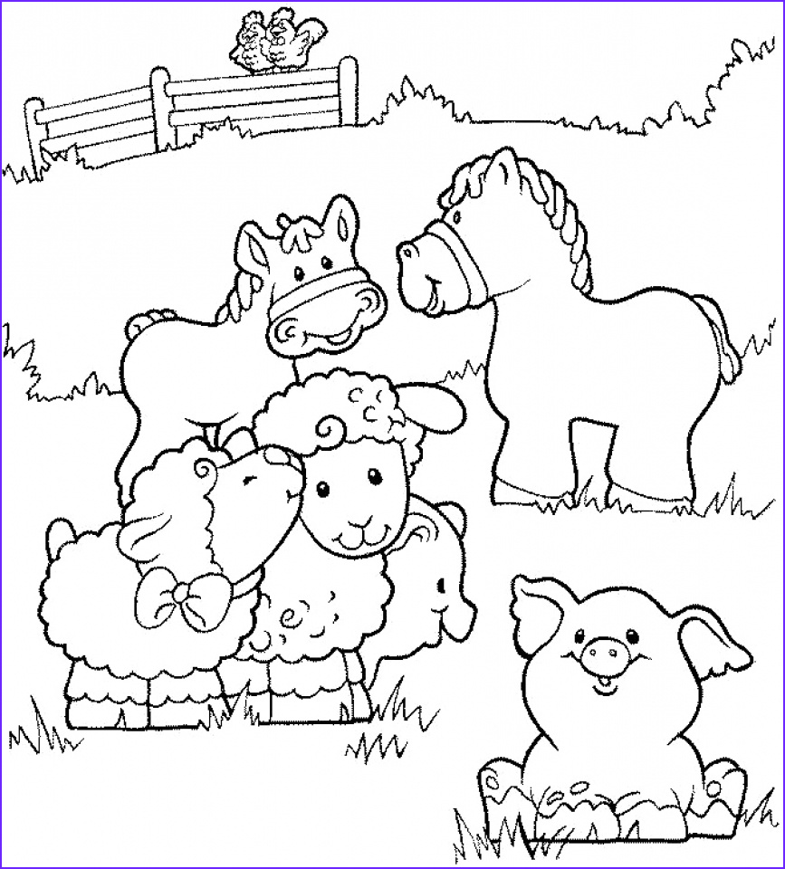 Coloring Pages Farm Animals Awesome Images 20 Free Printable Farm Animal Coloring Pages
