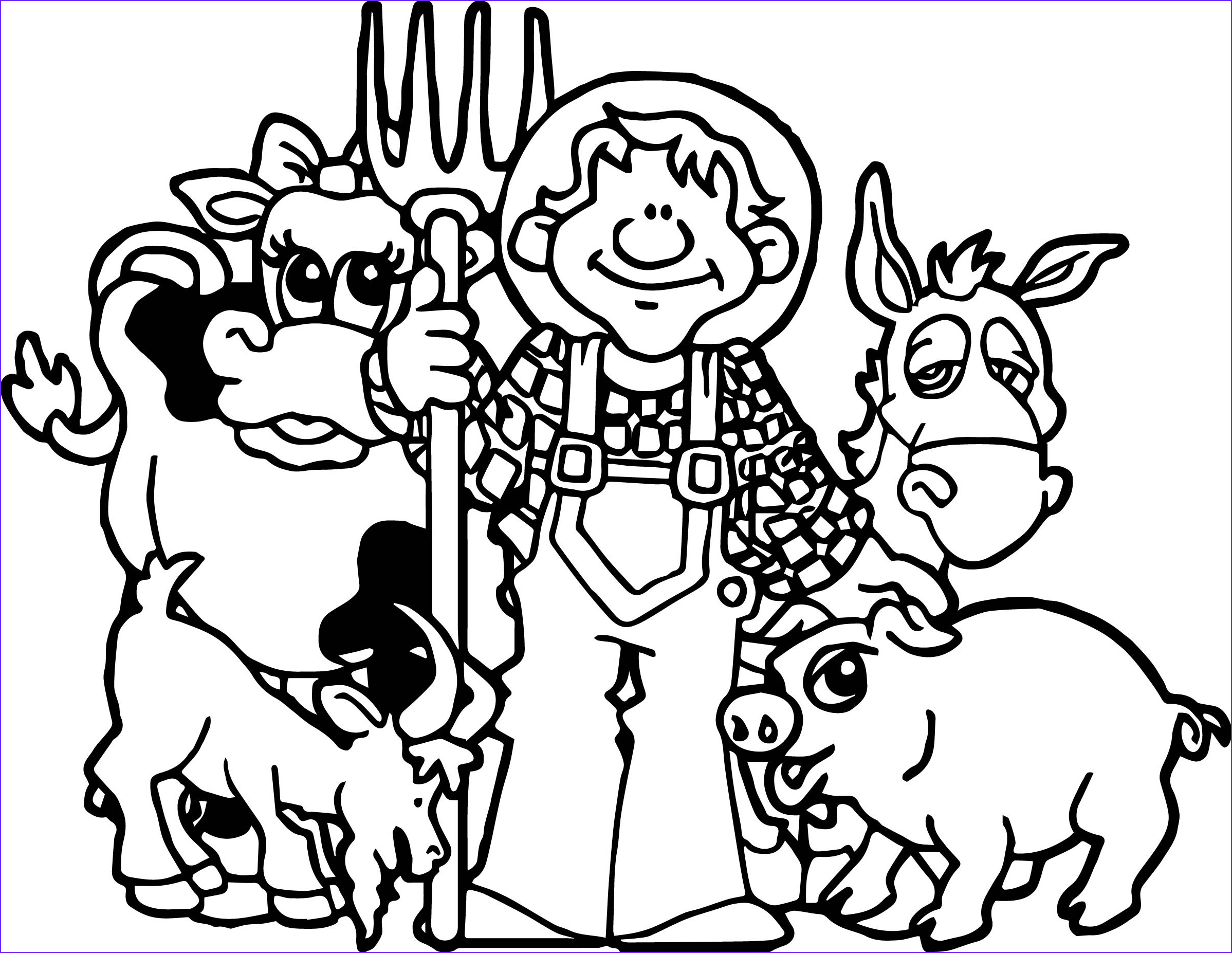 baby farm animals coloring pages