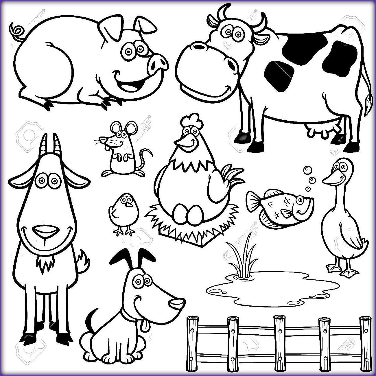 farm animal coloring pages for preschoolers