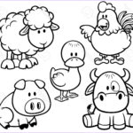 Coloring Pages Farm Animals New Photos Stock Outline