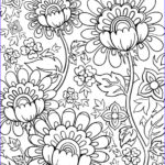 Coloring Pages For Adults Flowers Inspirational Stock Flower Doodles Doodle Coloring Pages