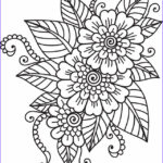 Coloring Pages For Adults Flowers New Images Flower Coloring Page 41 … Coloring
