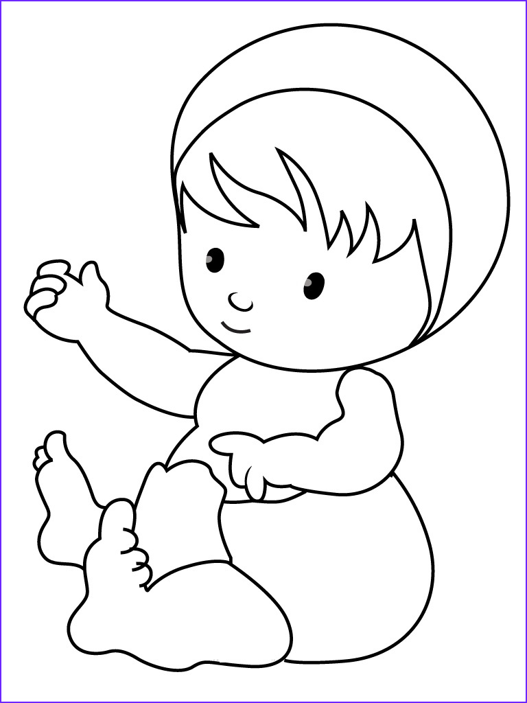 Coloring Pages for Babies Beautiful Photos Free Printable Baby Coloring Pages for Kids