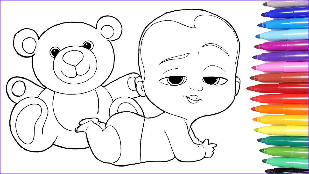 Coloring Pages for Babies Best Of Photos the Boss Baby Boss Baby Coloring Page Learn Colors for