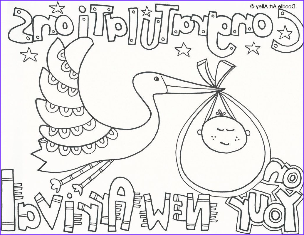 Coloring Pages for Babies Elegant Gallery Free Baby Shower Coloring Pages Printables Baby Shower