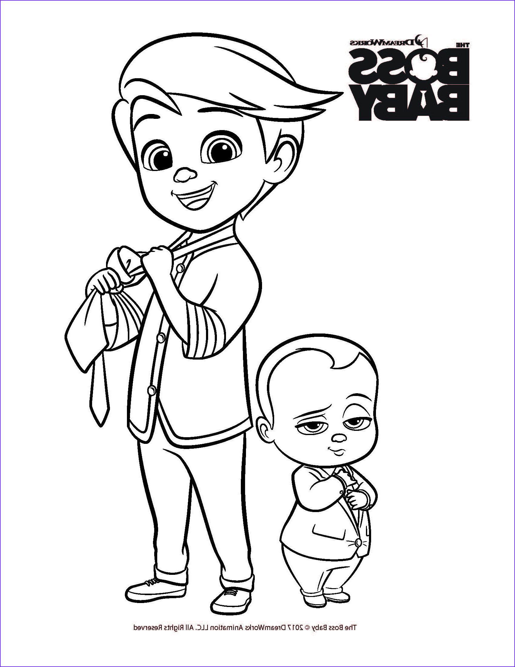 the boss baby coloring printables