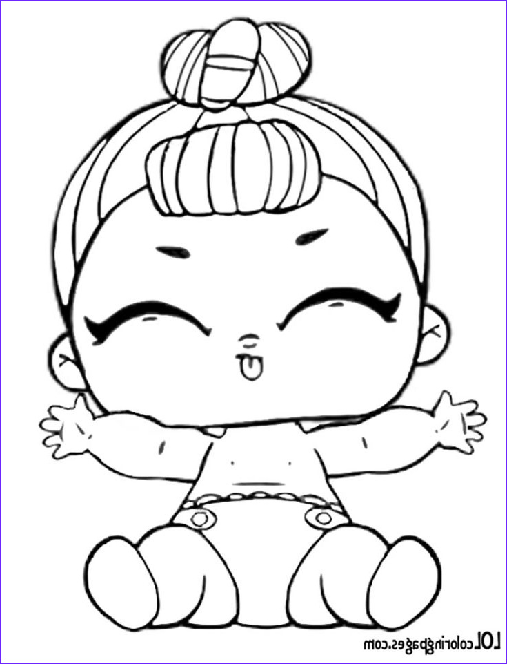 Coloring Pages for Babies Inspirational Stock Lil It Baby Surprise Doll Coloring Page