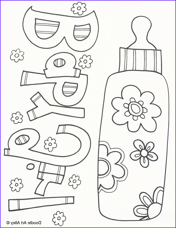 Coloring Pages for Babies New Photos Baby Coloring Pages Doodle Art Alley