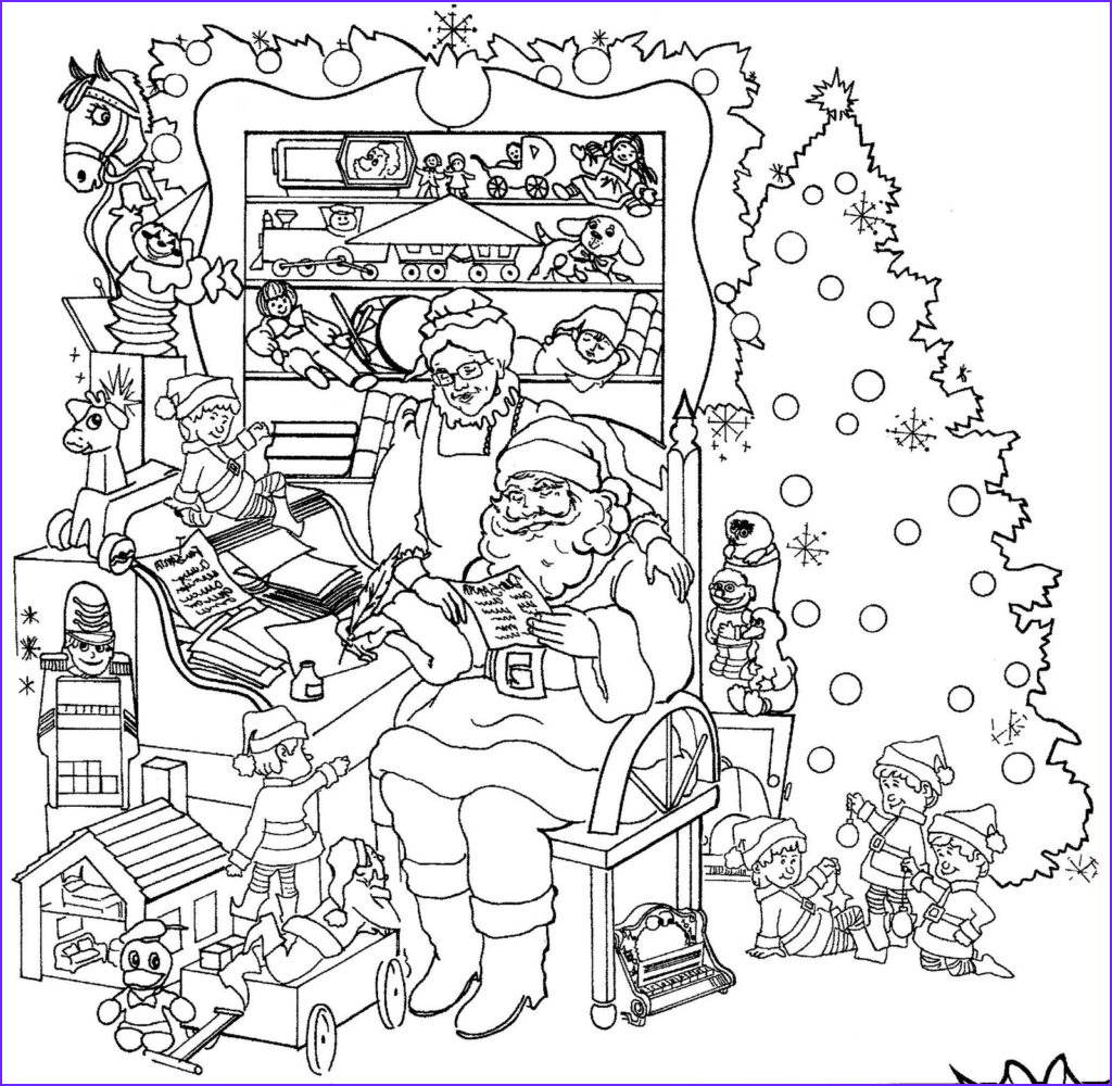 printable christmas adult coloring pages
