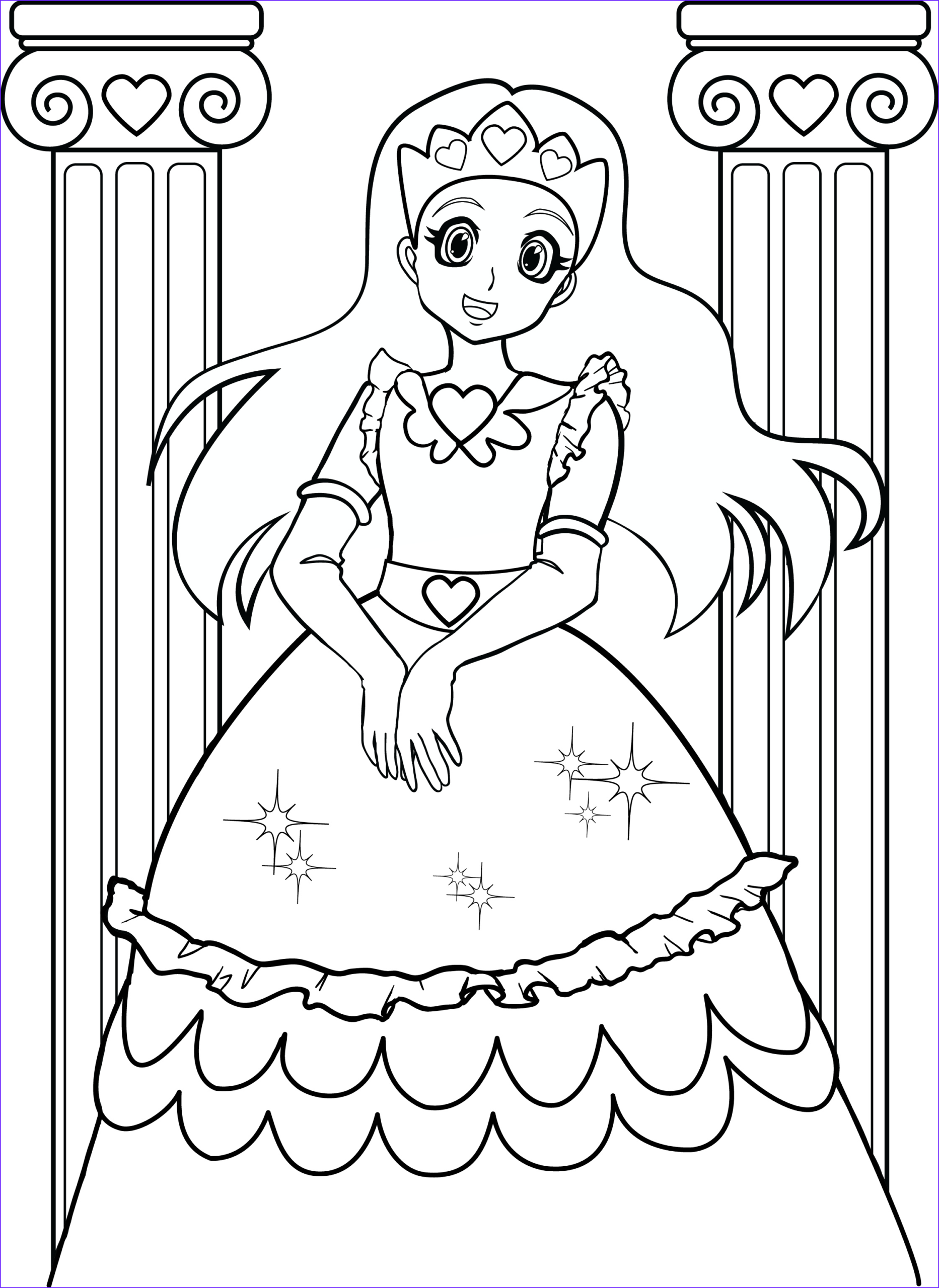 coloring pages for girls 7 2