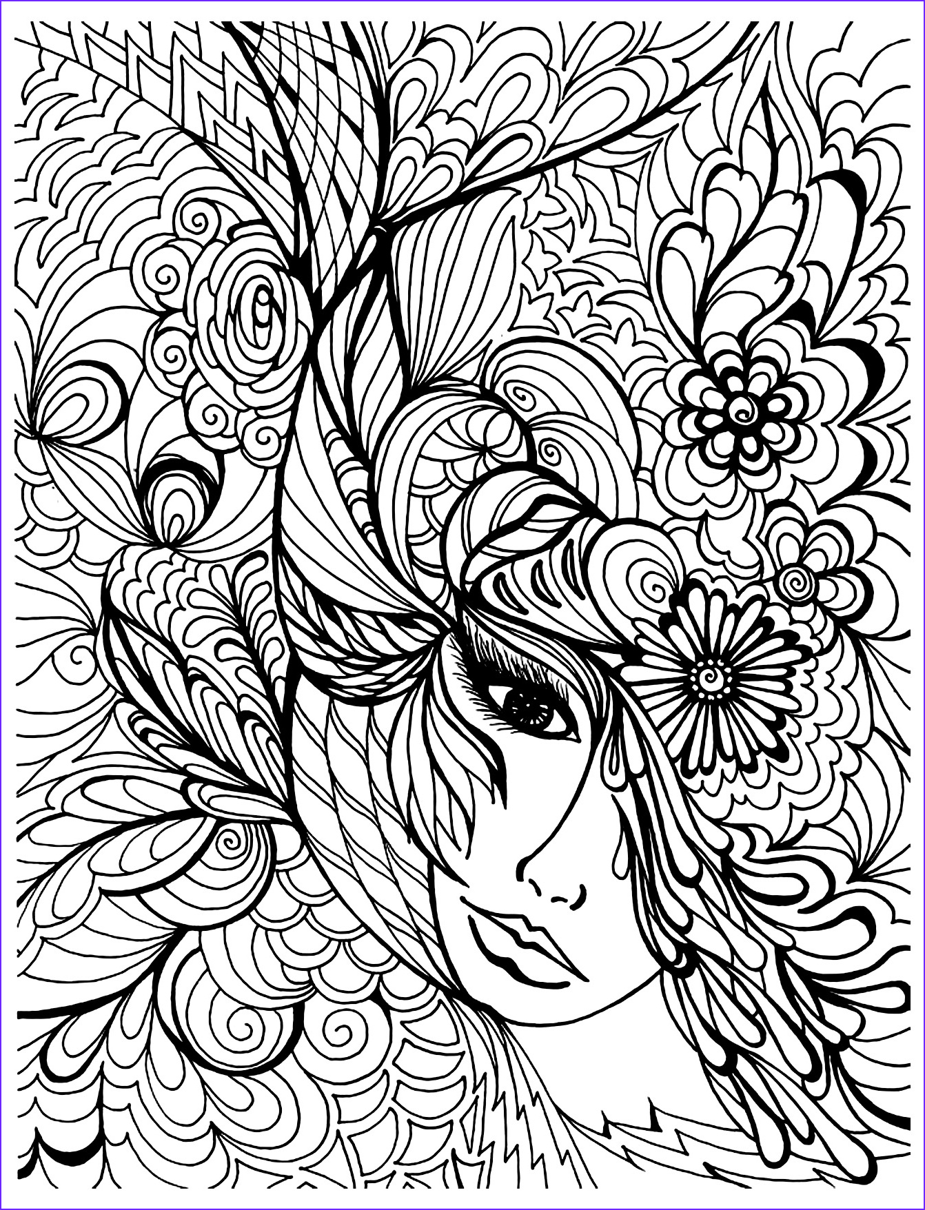 Coloring Pages for Grown Ups Cool Stock Free Coloring Pages for Grown Ups Face Ve ation