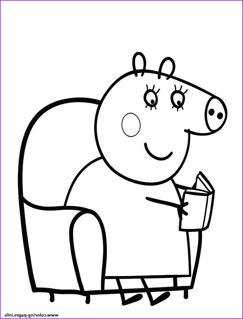 peppa pig colouring pages kids printable printable coloring pages book