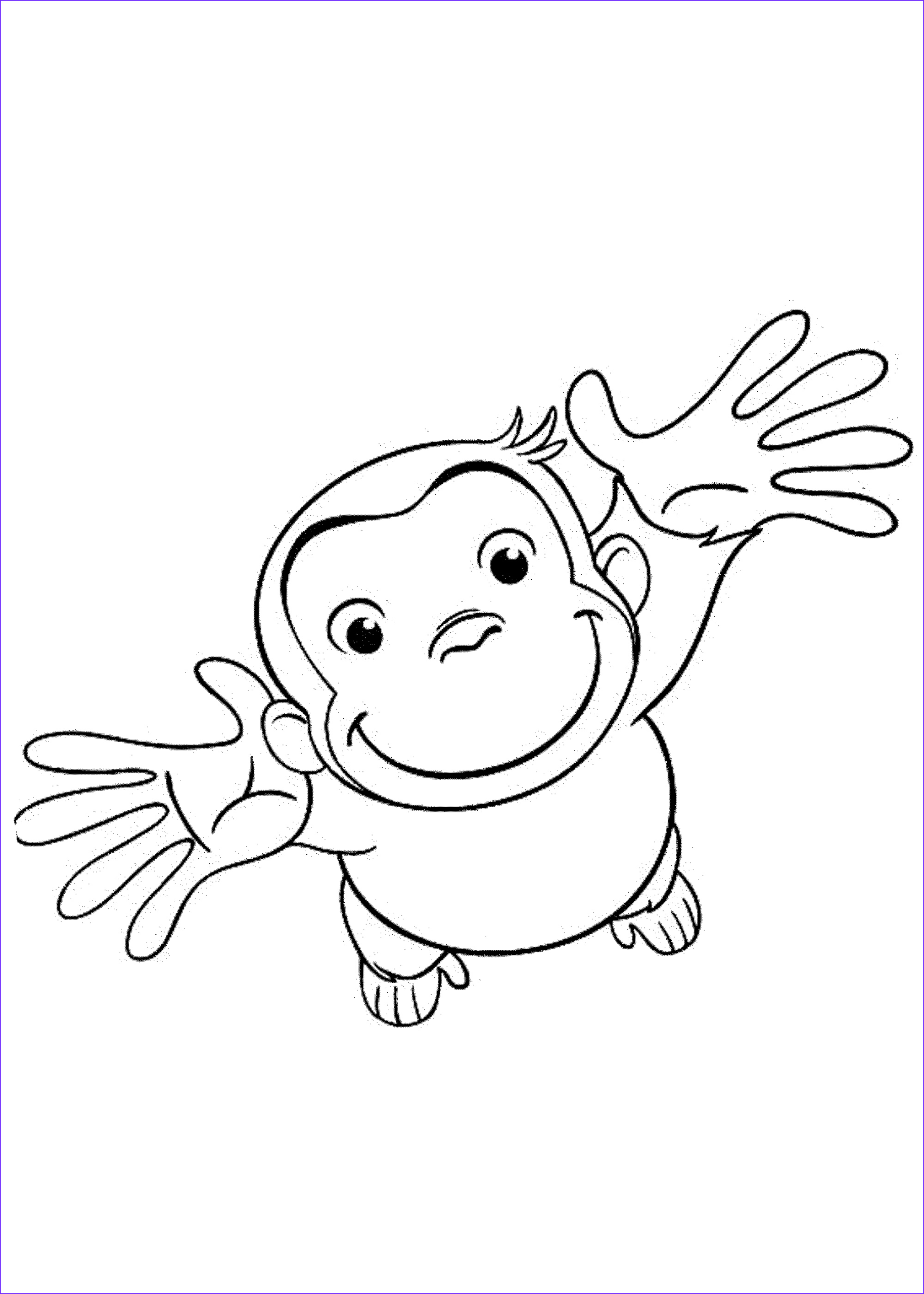 curious george coloring pages