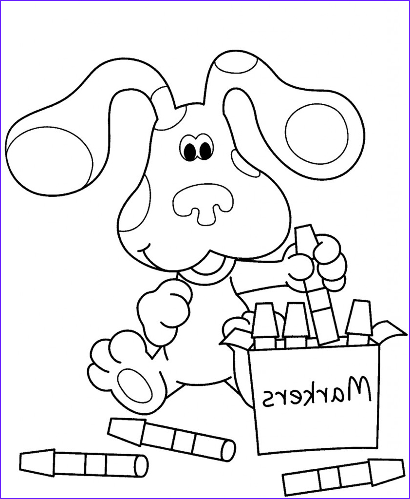 Coloring Pages For Kides Luxury Image Free Printable Blues Clues Coloring Pages For Kids