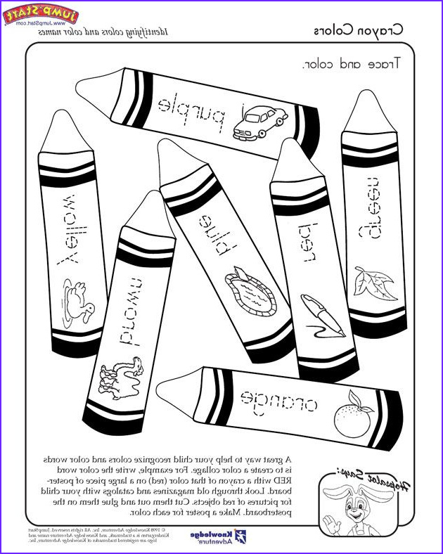 """Coloring Pages for Kindergarten Cool Gallery """"crayon Colors"""" – Kindergarten Coloring Worksheets"""