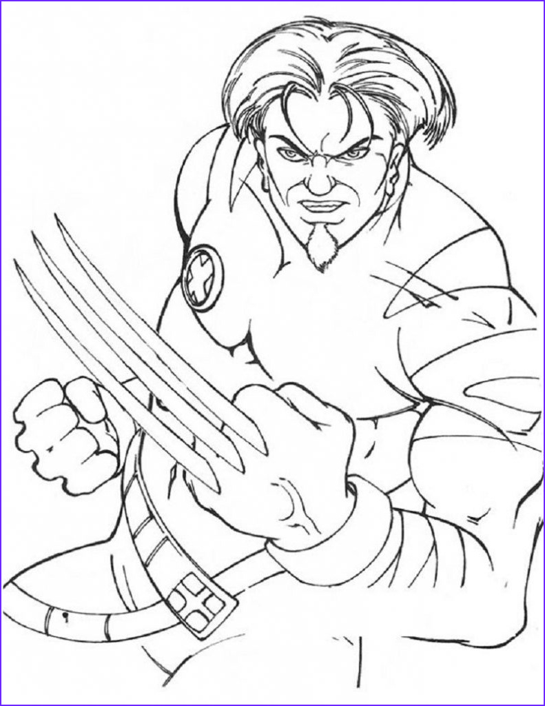 Coloring Pages for Men Inspirational Photos Free Printable X Men Coloring Pages for Kids