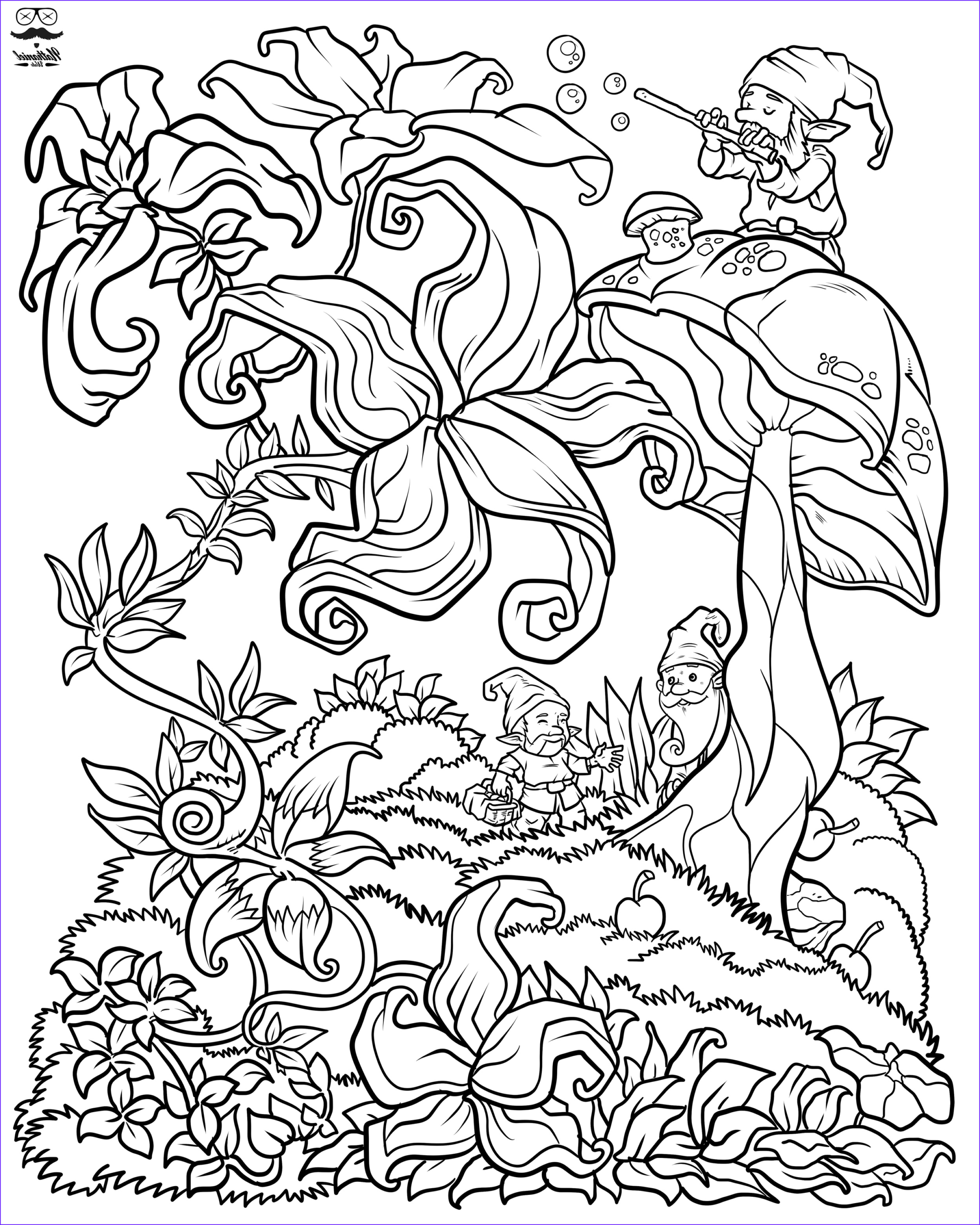 Coloring Pages for Men Luxury Image Floral Fantasy Digital Version Adult Coloring Book