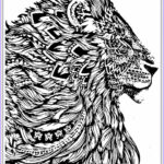 Coloring Pages For Men New Gallery Realistic Lion Adult Coloring Pages Free