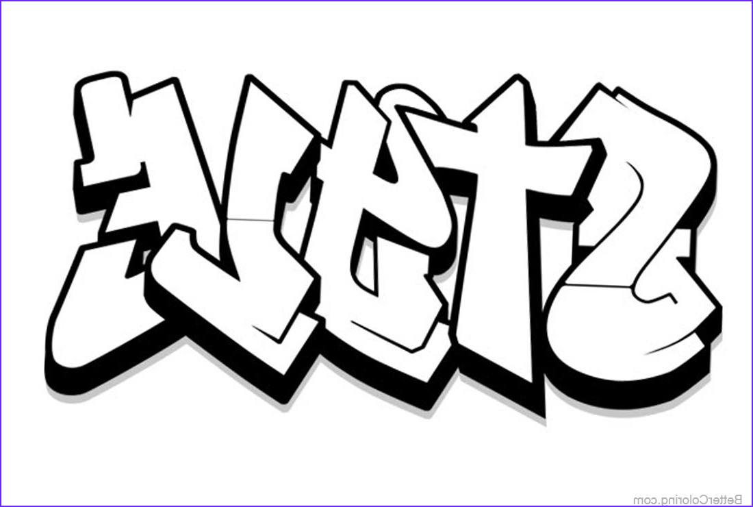 graffiti coloring pages letters style