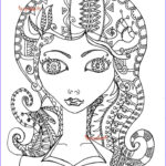 Coloring Pages Free For Adults Beautiful Stock Beautiful Woman Coloring Page Female Coloring Page Adult