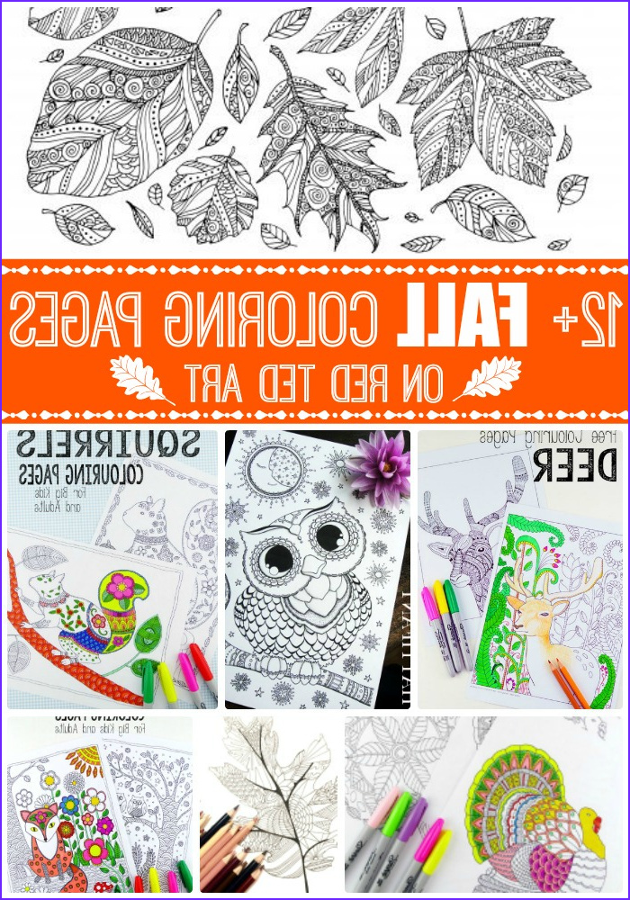 free printable adult coloring pages fall