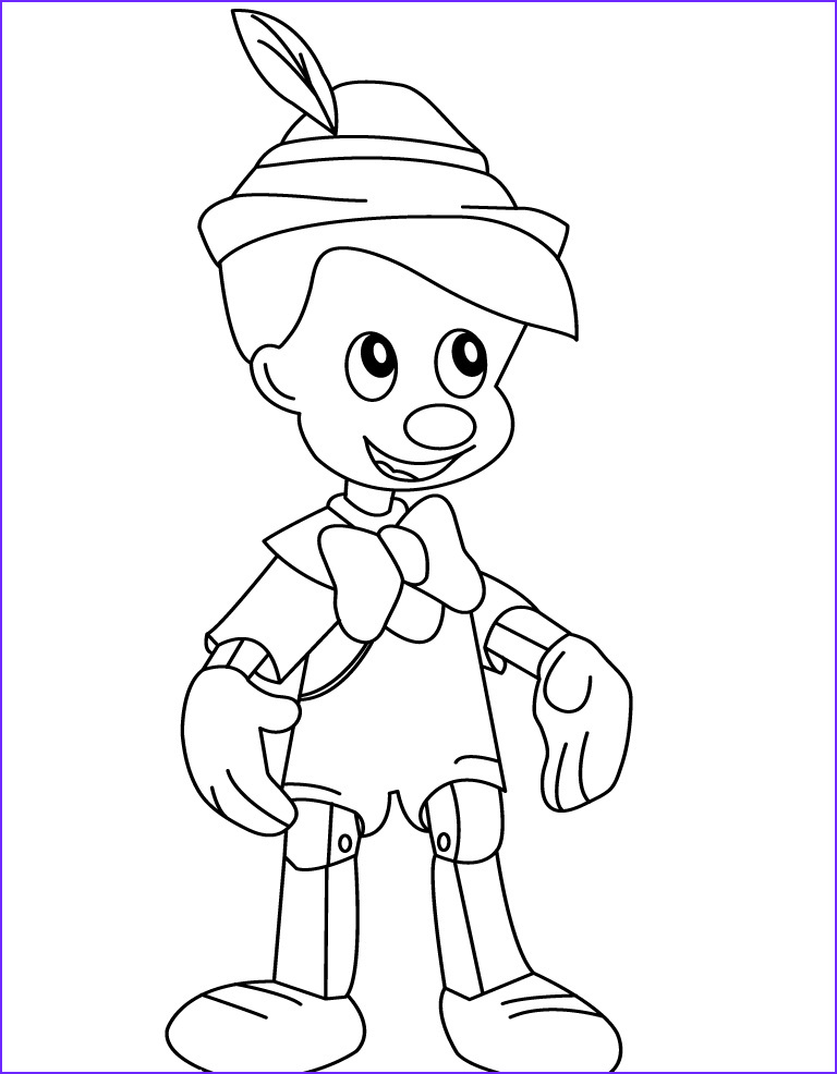 Coloring Pages Free Unique Gallery Free Printable Pinocchio Coloring Pages for Kids