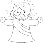Coloring Pages Jesus Cool Stock Cartoon Jesus Coloring Page